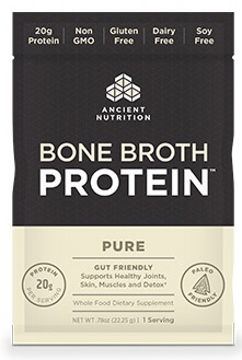 Ancient Nutrition Bone Broth Protein Pure Single Serving Pack