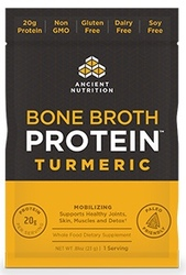 Ancient Nutrition Bone Broth Protein Turmeric Single Serving Pack