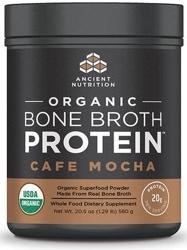 Ancient Nutrition Bone Broth Protein Cafe Mocha Organic 17 Servings
